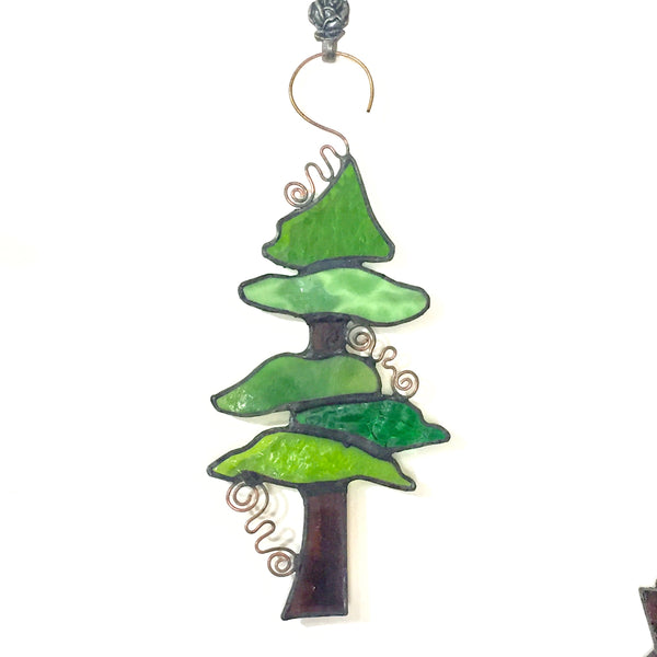 Tiffany-style Glass Tree