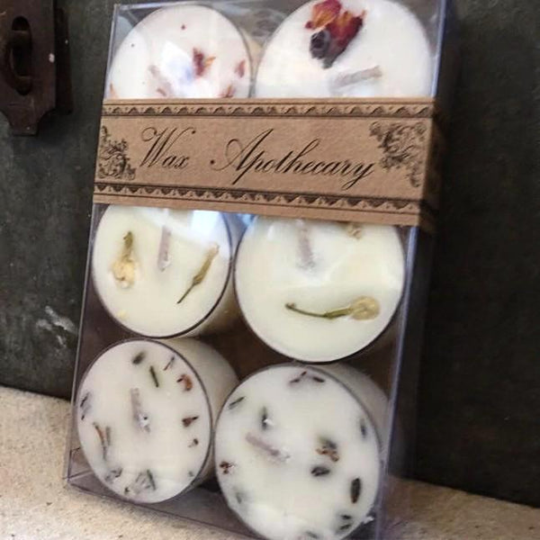 6 pack Botanical Tealight Candles