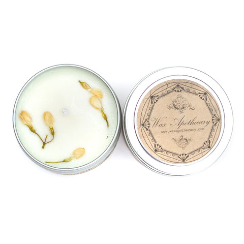 Night-Blooming Jasmine 4oz Botanical Candle Travel Tin