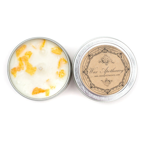 Vanilla 4oz Botanical Candle Travel Tin