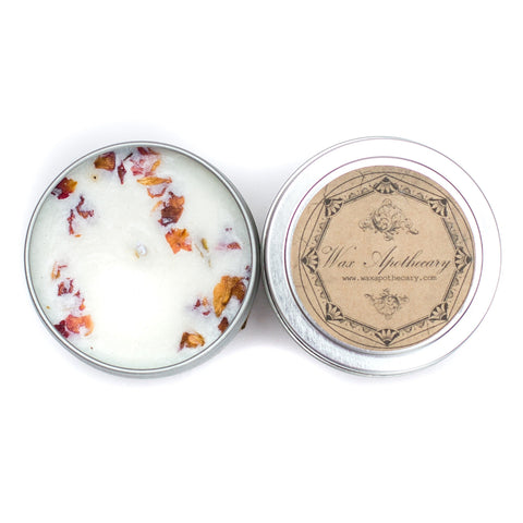 Pure Rose 4oz Botanical Candle Travel Tin