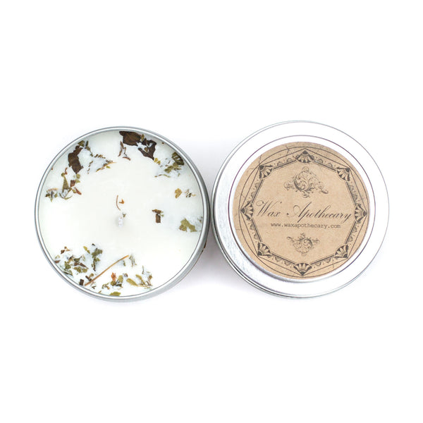 Peppermint 4oz Botanical Candle Travel Tin