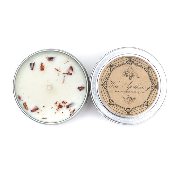 Cassia Cinnamon 4oz Botanical Candle Travel Tin