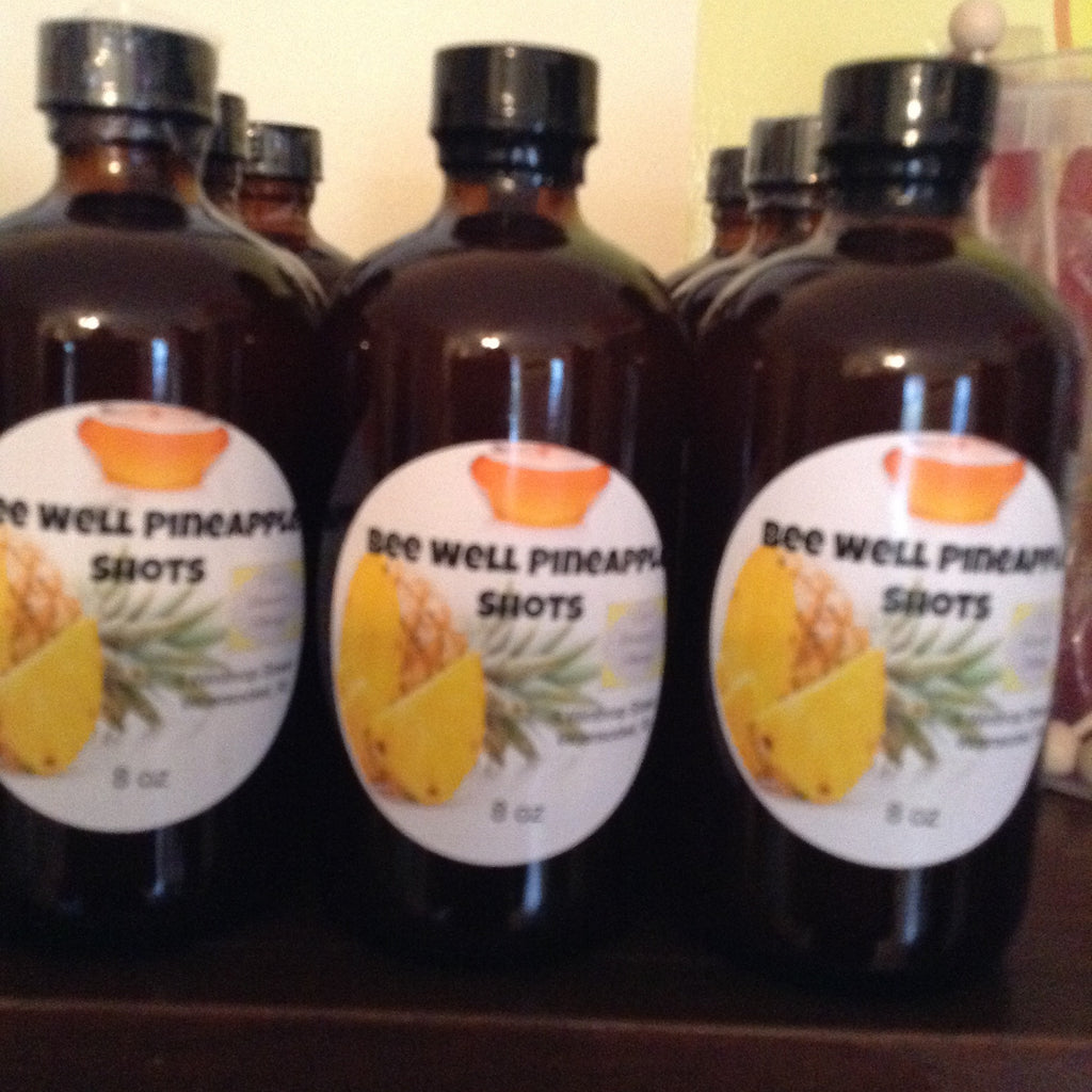 Apple Cider Vinegar: Bee Well Pineapple Shots