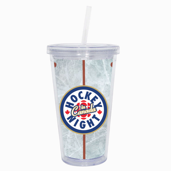 """Hockey Night in Canada"" 16 oz. Tumbler Cup with Straw"