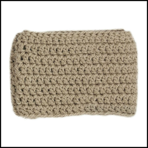 Taupe Chunky Infinity Scarf - Bundle Up Crochet - 3