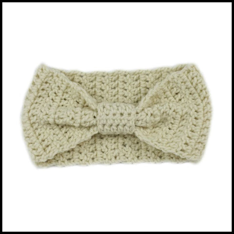 Beige Cinch Turban Earwarmer - Bundle Up Crochet - 4
