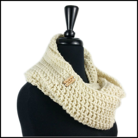 Beige Infinity Scarf - Bundle Up Crochet - 2