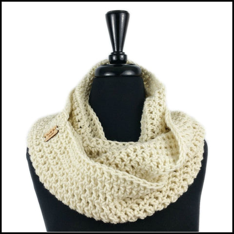 Beige Infinity Scarf - Bundle Up Crochet - 1