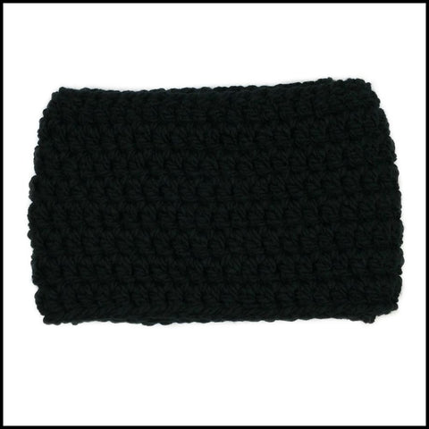 Black Chunky Infinity Scarf - Bundle Up Crochet - 3