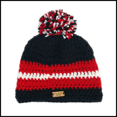 Black, Red & White Hat - Bundle Up Crochet - 3