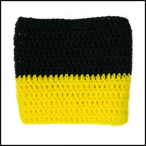 Black & Yellow Infinity Scarf - Bundle Up Crochet - 3