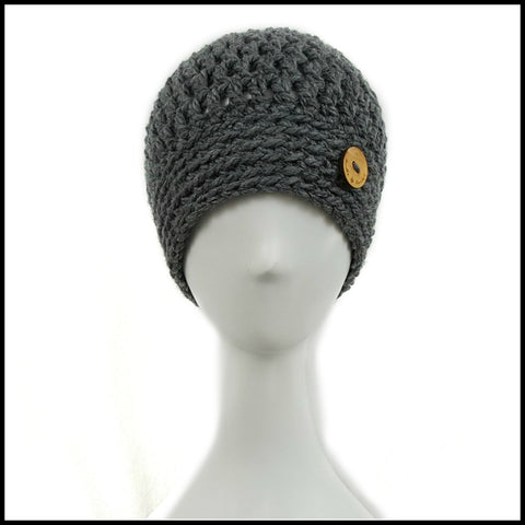 Chunky Charcoal Hat - Bundle Up Crochet - 2