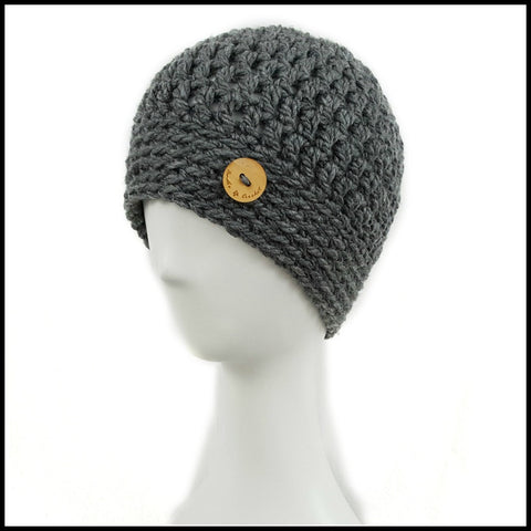 Chunky Taupe Hat - Bundle Up Crochet - 4