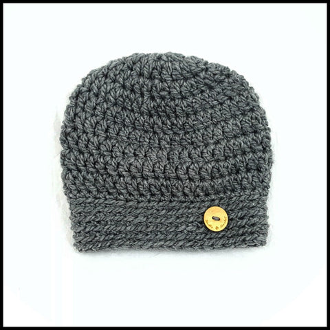 Chunky Charcoal Hat - Bundle Up Crochet - 3
