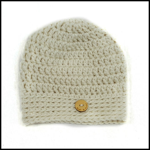 Chunky Soft White Hat - Bundle Up Crochet - 5