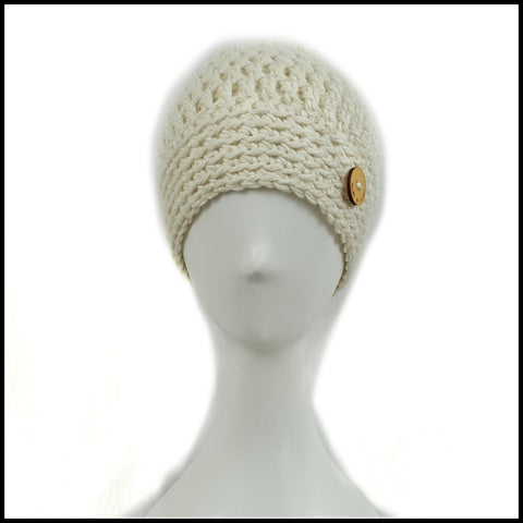 Chunky Soft White Hat - Bundle Up Crochet - 2