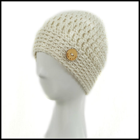 Chunky Soft White Hat - Bundle Up Crochet - 1