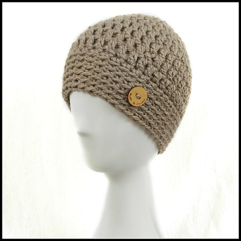 Chunky Taupe Hat - Bundle Up Crochet - 1