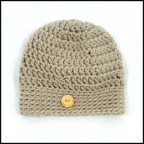 Chunky Taupe Hat - Bundle Up Crochet - 3