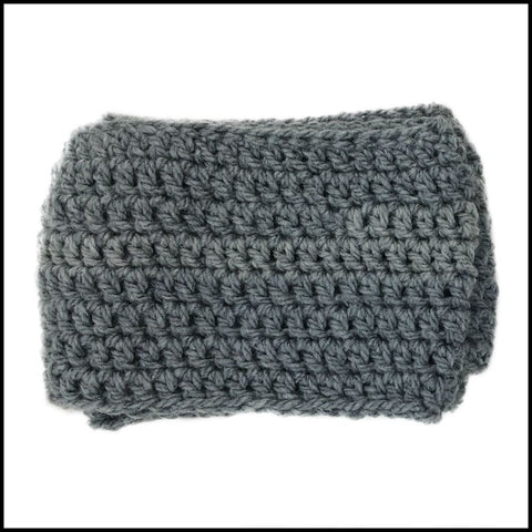 Charcoal Chunky Infinity Scarf - Bundle Up Crochet - 3