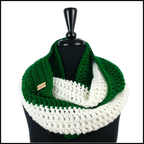 Yellow & Green Infinity Scarf - Bundle Up Crochet - 7