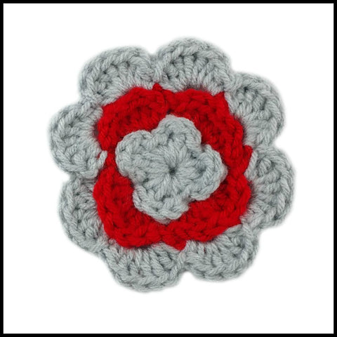 White & Red Flower - Bundle Up Crochet - 7