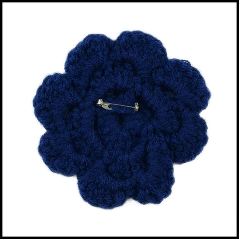 Navy Blue Flower - Bundle Up Crochet - 2
