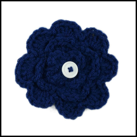 Navy Blue Flower - Bundle Up Crochet - 1