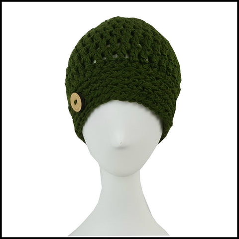 Chunky Olive Hat