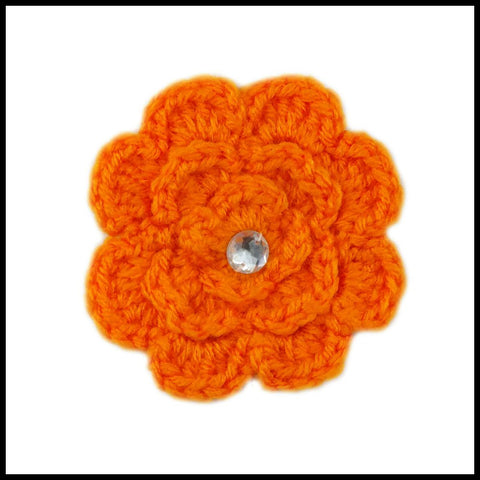 Orange & Black Flower - Bundle Up Crochet - 7