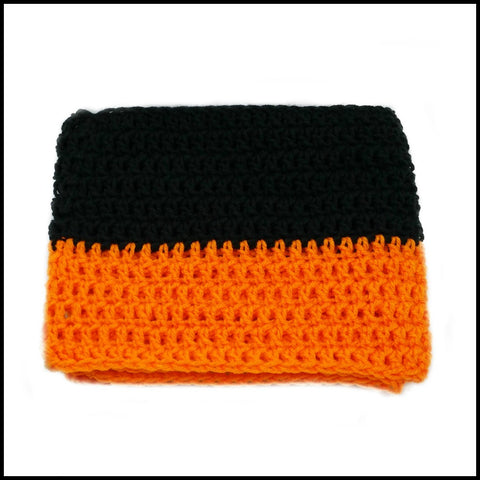Orange & Black Infinity Scarf - Bundle Up Crochet - 3