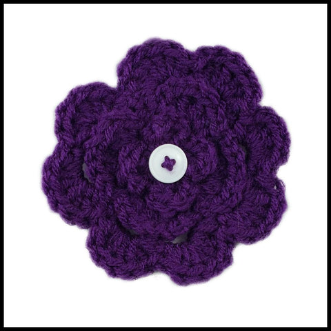 Navy Blue Flower - Bundle Up Crochet - 6