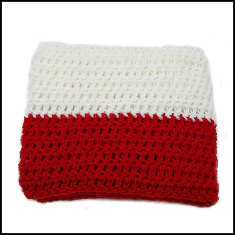 Red & White Infinity Scarf - Bundle Up Crochet - 3