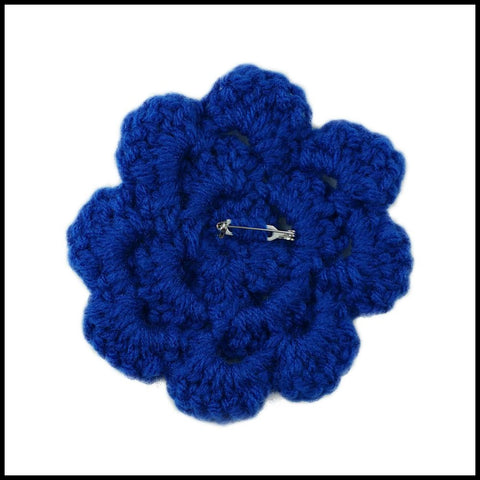 Royal Blue Flower - Bundle Up Crochet - 2