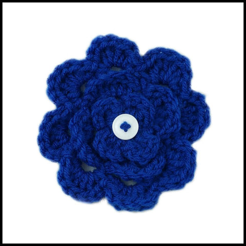Royal Blue Flower - Bundle Up Crochet - 1