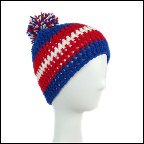 Royal Blue, Red & White Hat