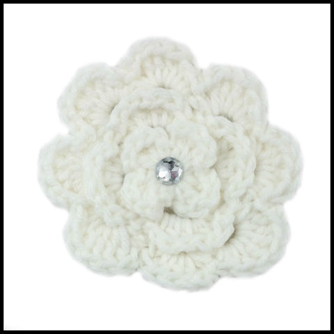 White & Red Flower - Bundle Up Crochet - 8