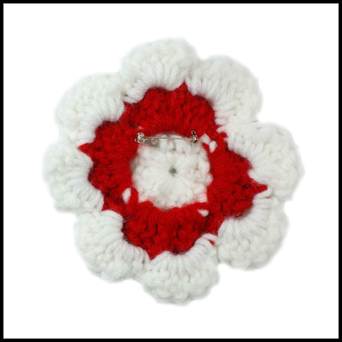 White & Red Flower - Bundle Up Crochet - 2