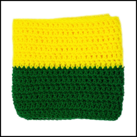 Yellow & Green Infinity Scarf - Bundle Up Crochet - 3