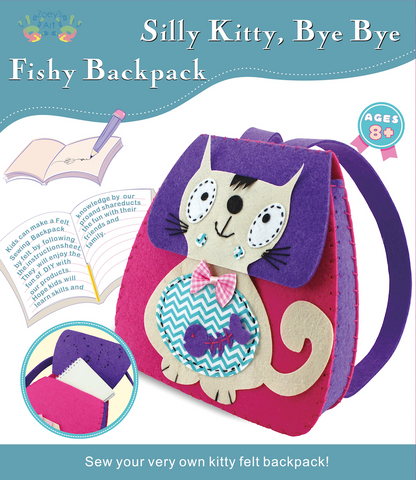 Silly Kitty DIY Backpack Sewing Kit