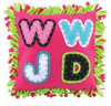 Image of WWJD Pink Pillow