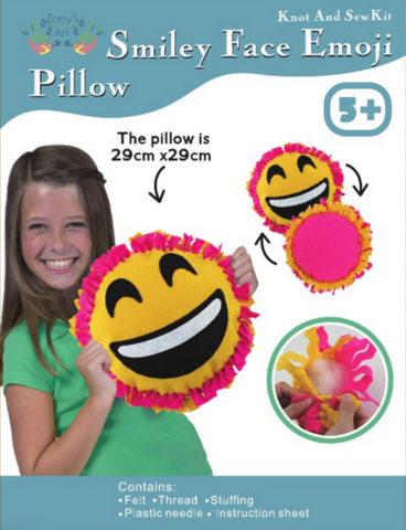 Smiley Face Emoji Pillow