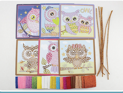 Mosaic Owls Art and Craft Sticky Mosaic Kit for Kids