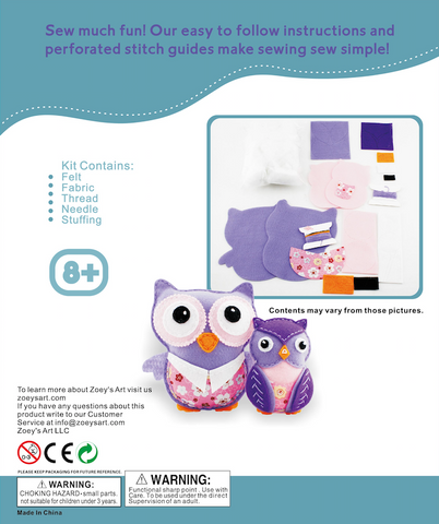 Owl Family Sew and stuff Kit