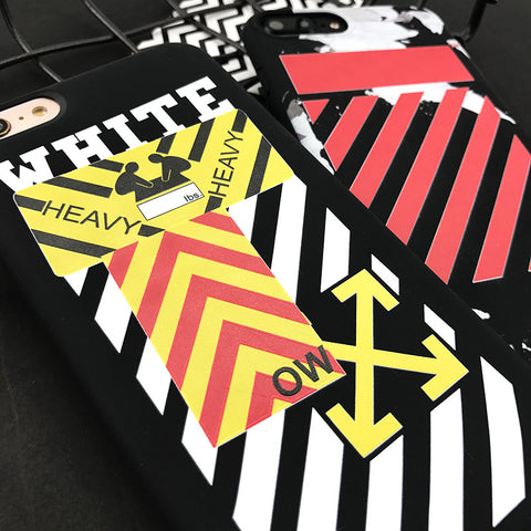 Striped Caution iPhone Case