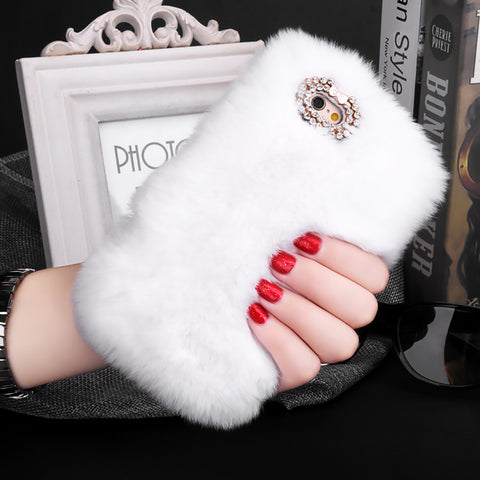 Luxury Rabbit Fur iPhone Case