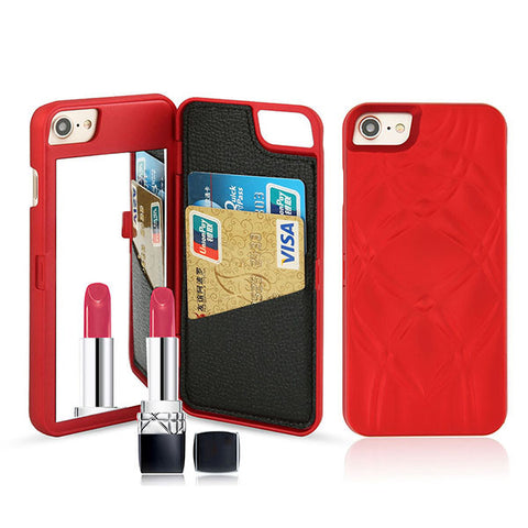 Luxury Mirror Wallet Flip iPhone Case