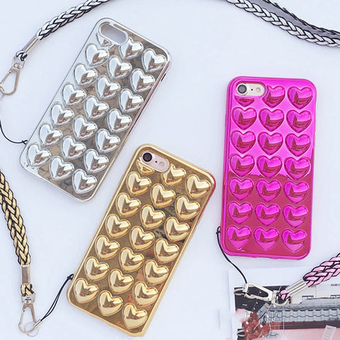 Luxury 3D Love Heart iPhone Case