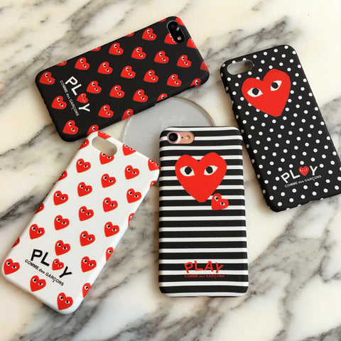 Playful Multi Heart iPhone Case